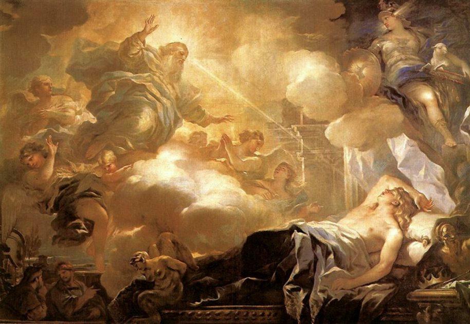 Salomos Traum in Gibeon, Luca Giordano ca. 1694